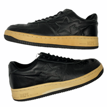 Load image into Gallery viewer, 8.5 Bape Black Leather Sta