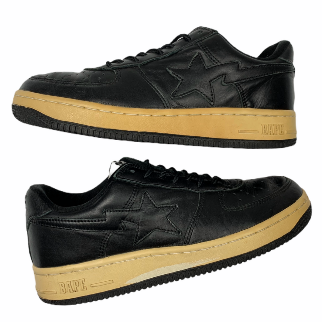 8.5 Bape Black Leather Sta