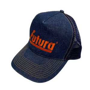 Futura Labs Denim Logo Trucker Hat