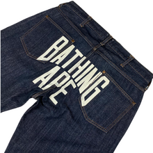 "Load image into Gallery viewer, L 34"" x 32"" Bape NYC Arc Logo Denim"