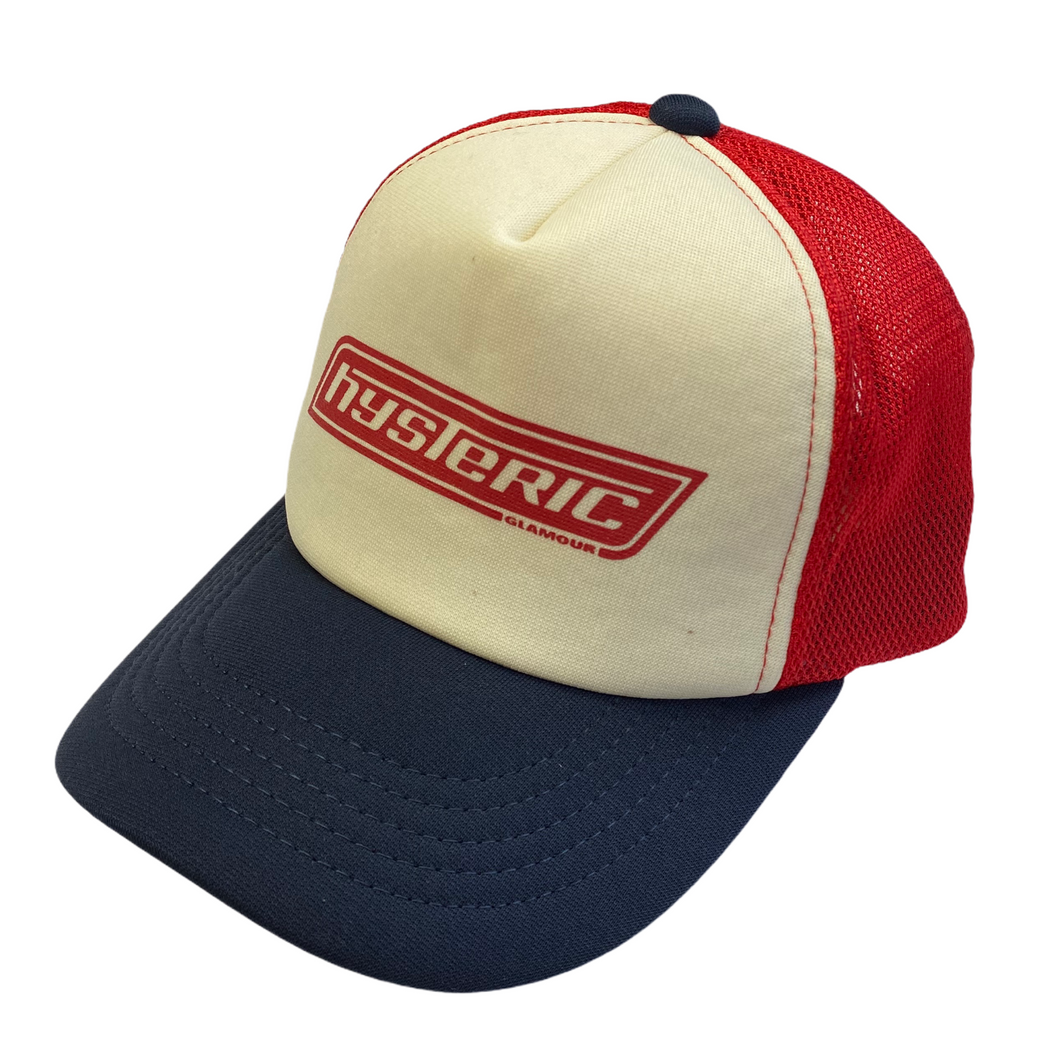 Hysteric Glamour Navy/Red Bar Logo Trucker Hat