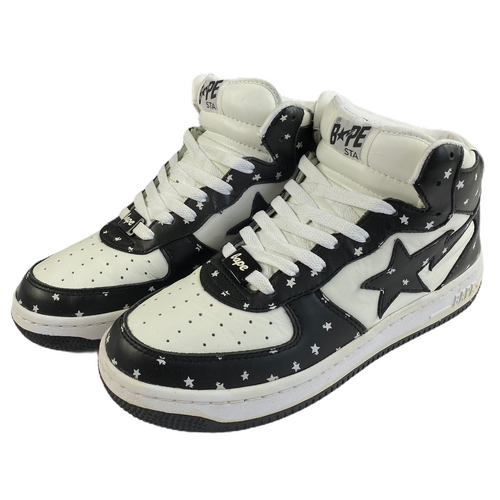 8.5 Bape Leather Star Patterned Mid Sta