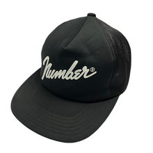 Load image into Gallery viewer, Number Nine Script Logo Trucker Hat