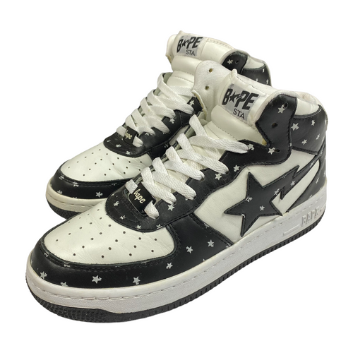 8.5 Bape Leather Star Pattern Mid Sta