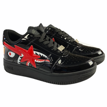 Load image into Gallery viewer, 8 Bape Black Patent Leather Shark Sta With Box