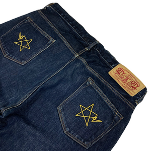 "XL 36"" x 36"" Bape Double Stitched Star Denim"