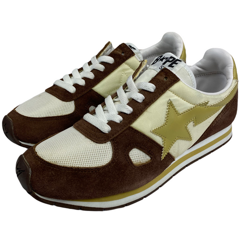 7.5 Bape Brown/Beige Track Sta With Box