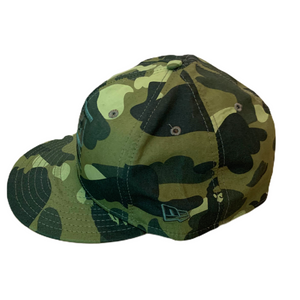 7 1/2 Bape X New Era Green Camo Fitted