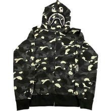 Load image into Gallery viewer, 3XL Bape Glow In The Dark Camo PONR Shark Hoody