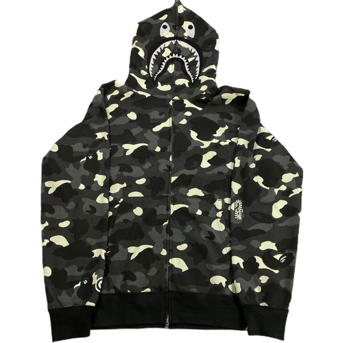 3XL Bape Glow In The Dark Camo PONR Shark Hoody
