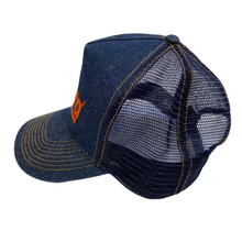 Load image into Gallery viewer, Futura Labs Denim Logo Trucker Hat