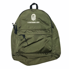 Load image into Gallery viewer, Bape Army Green Ape Head Backpack