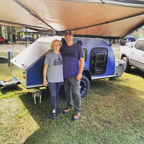 TCTeardrops owners Todd and Carol Mowrer at Rendezvous in the Ozarks October 2019