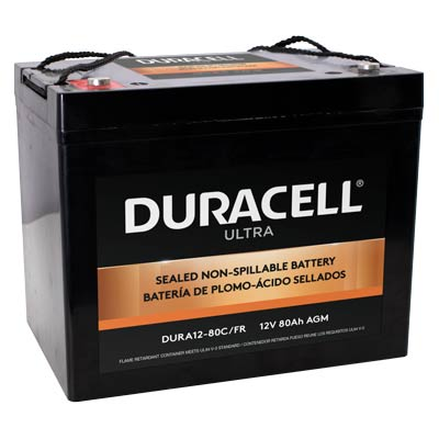 Duracell Ultra 12V 80AH AGM SLA Battery