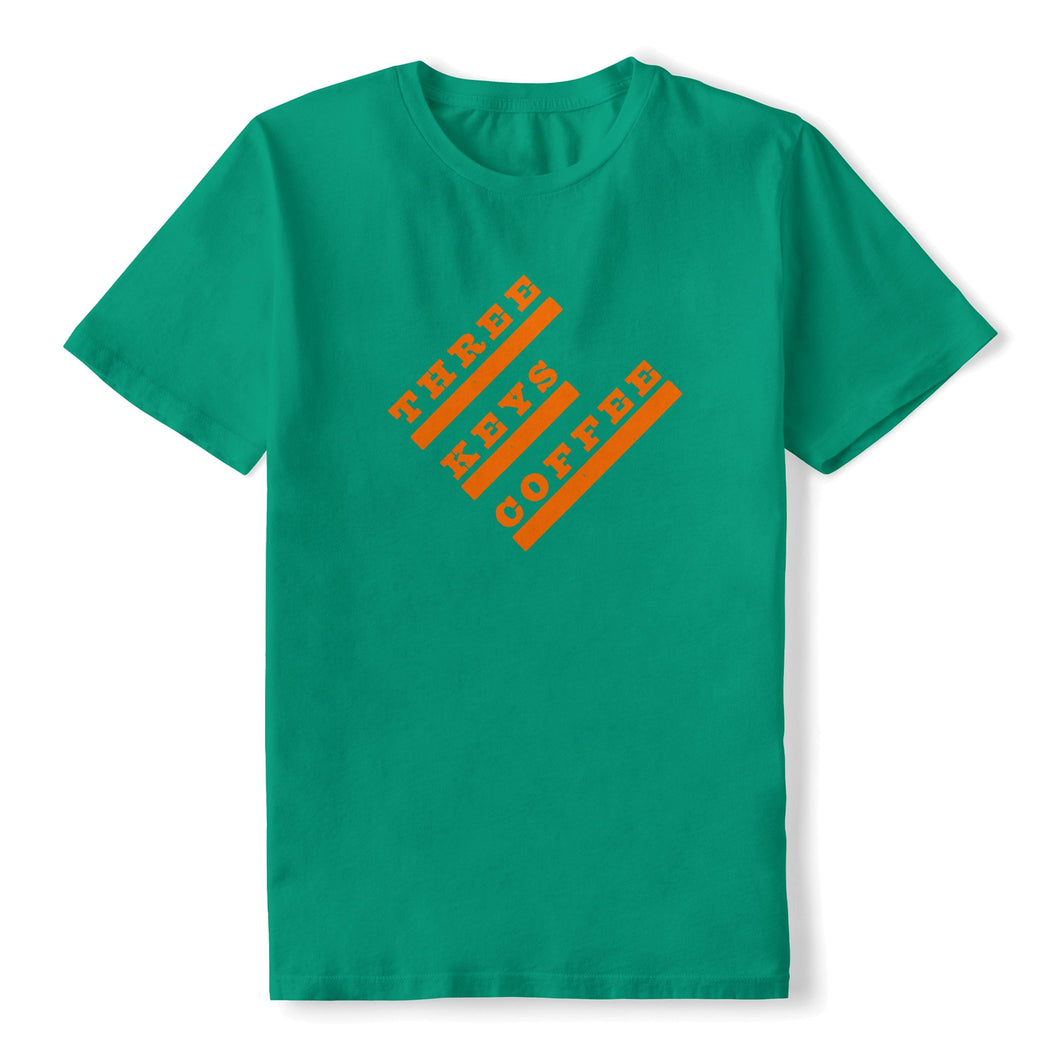 3KC Logo Tee - Kelly Green - Three Keys Coffee