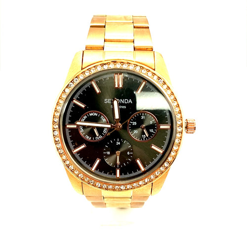 Ladies Sekonda Rose Multi Dial Watch with Crystal Bezal Ref N2158