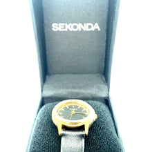 Load image into Gallery viewer, Sekonda Classic 4141 Ladies Watch Black Dial Black Strap