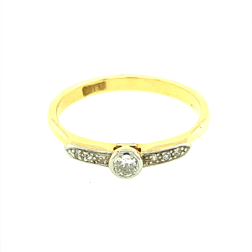 18ct Gold & Rubover Solitaire Ring