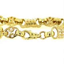 "Load image into Gallery viewer, 9ct Gold 8"" Fancy Bracelet (23 grams)"