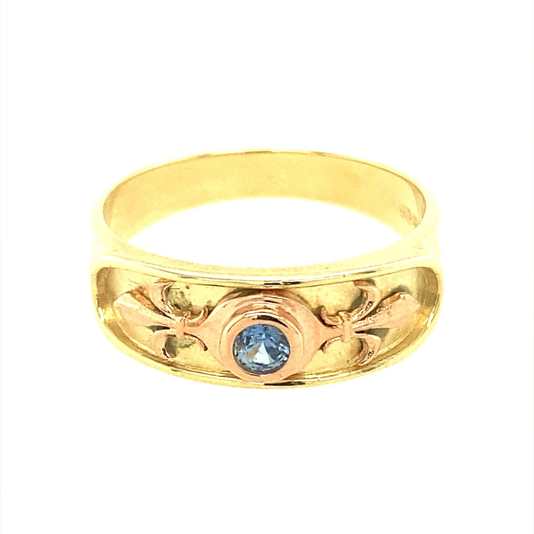 9ct Gold Clogau Blue Stone Ring