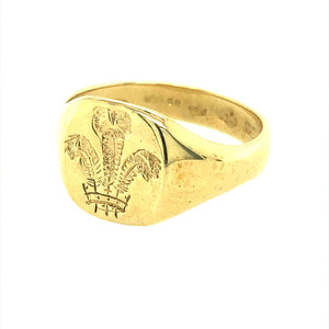 9ct Gold Clogau 3 Feather Signet Ring
