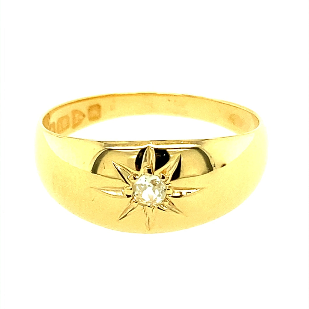 9ct Gold & Diamond Set Chester Hallmarked Ring