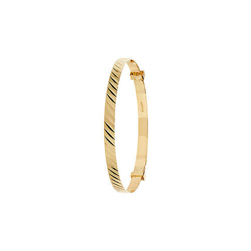 9ct Gold Patterned Expanding Baby Bangle