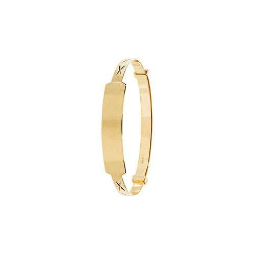 9ct Gold ID Expanding Baby Bangle