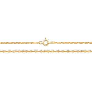 "9ct Gold 22"" Singapore Chain"