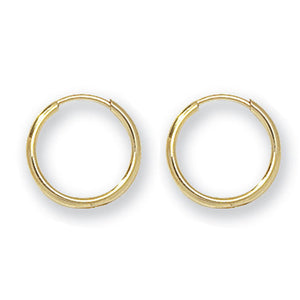 9ct Gold Polished Hoop Earrings