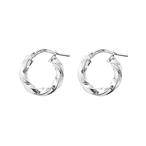 925 Silver Twist Earrings