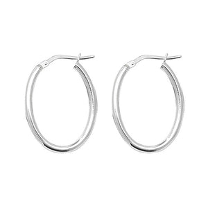 925 Silver Small Oval Earrings