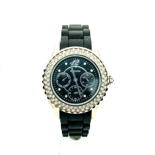 Ladies Sekonda Multi Dial Party Time Watch With Crystal Bezel Ref 4516