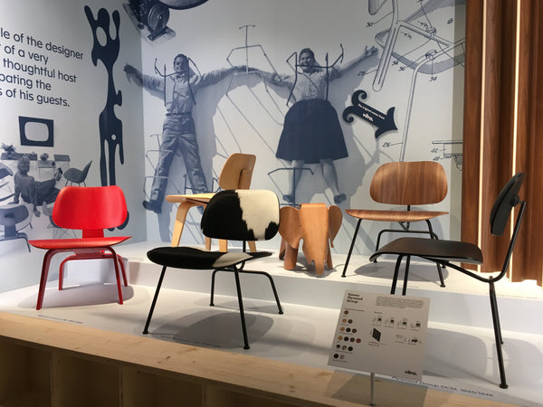 Eames Plywood group chairs black frame