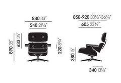 Eames Lounge chair and ottoman - new dimensions