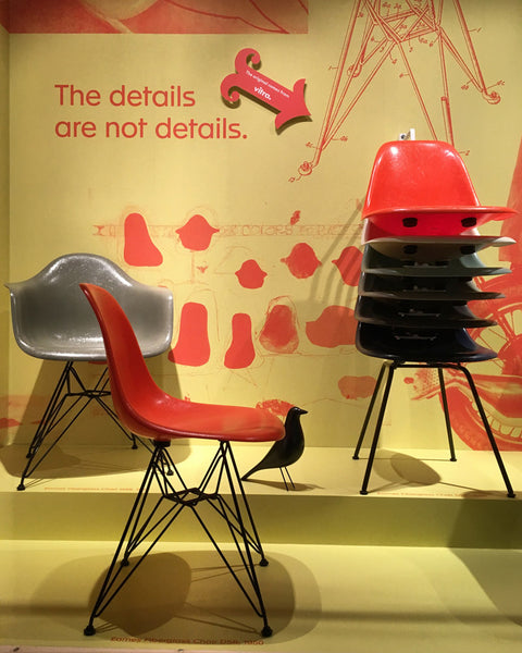 Eames plastic chair fibreglass version