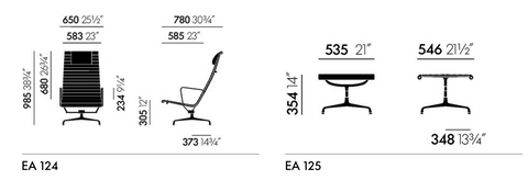 Eames EA 124 and EA 125
