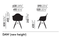 Eames DAW Chair new dimensions