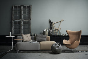 Fritz Hansen Alphabet sofa Two seat PL210 and Egg chair in leather