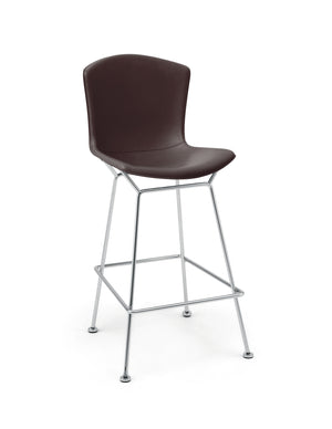 Bertoia Bar Stool cowhide dark brown.