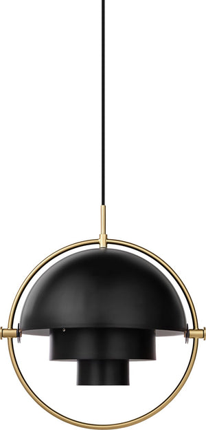 Multi-Lite Pendant - Brass / Soft Black Semi Matt