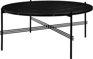 TS Coffee Table Ø80 - Black Marquina Marble
