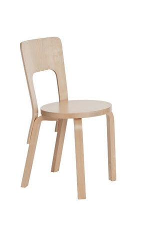 66 Chair - Birch veneer seat and natural lacquer seat