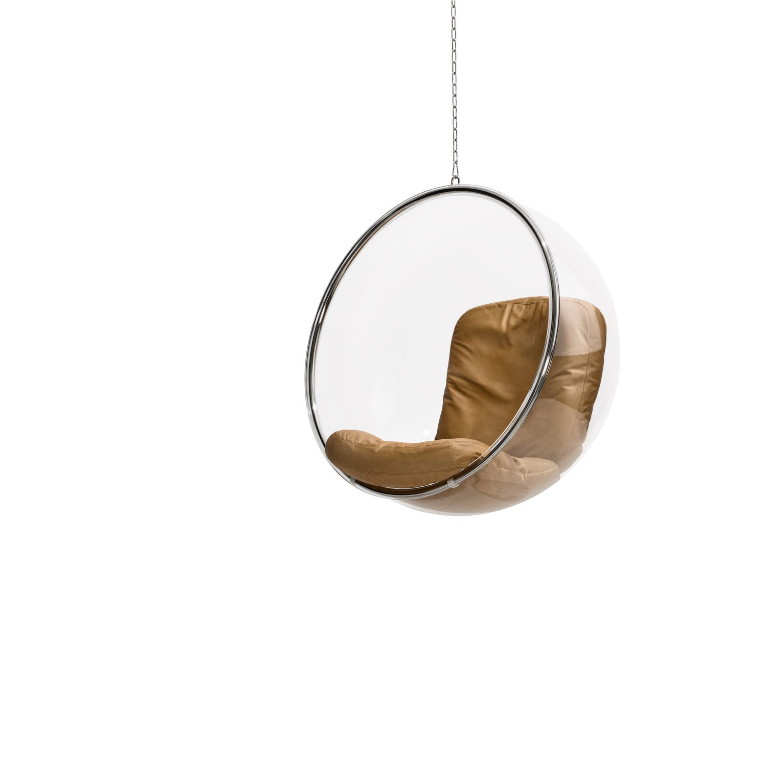 bubble chair natural leather cushions