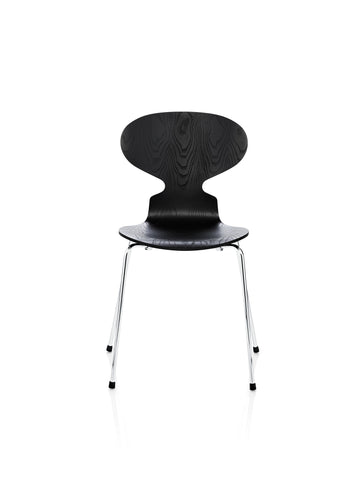 Ant chair, four legs 3101, black coloured ash