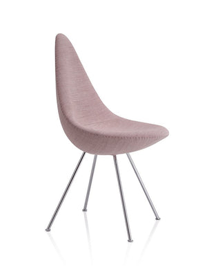 Drop Chair Fully Upholstered, pink canvas