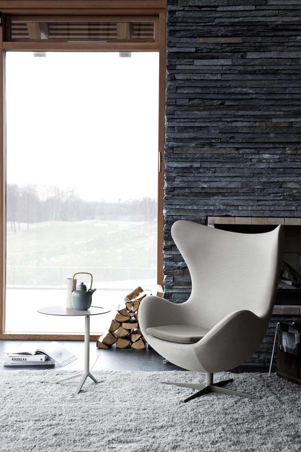 Arne jacobsen egg chair white - Arne Jacobsen Egg Chair Grey Fabric