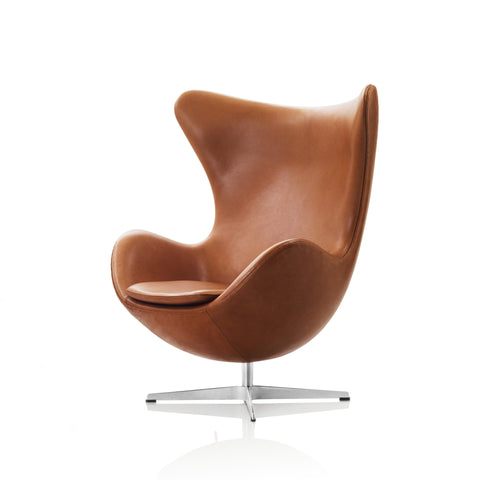 Arne Jacobsen Egg chair, caramel leather
