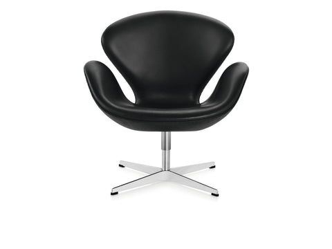 Arne Jacobsen Swan chair, black leather