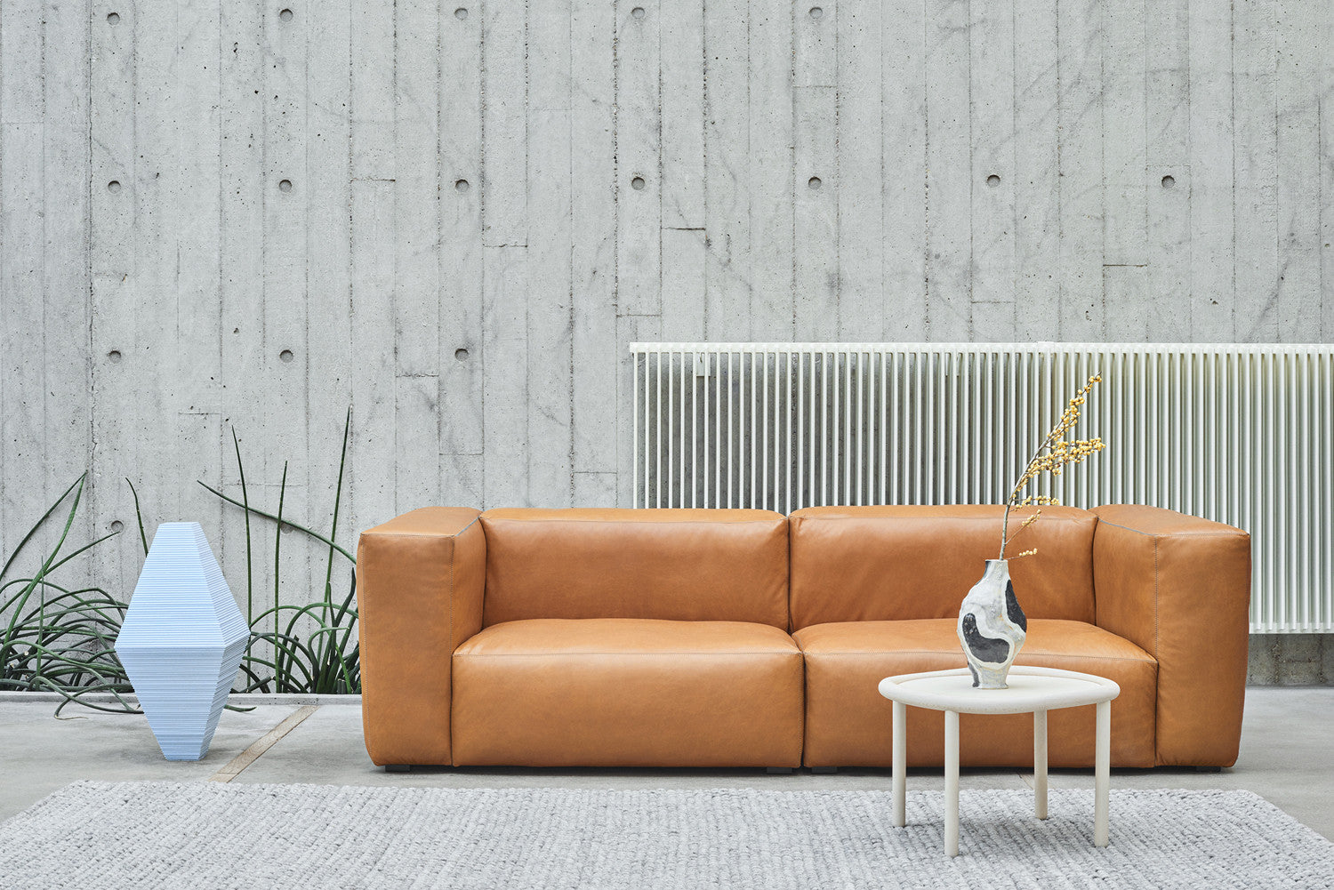 Mags Soft Sofa Two And A Half Seater Leather Silk Whisky